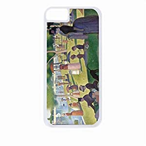 Sunday Afternoon on the Island of La Grande Jatte- Case for the Apple Iphone 5C-Hard White Plastic Outer Shell with Inner Soft Black Rubber Lining