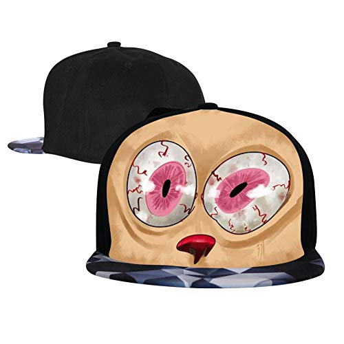 Caps Ren and Stim-Py Hip Hop Baseball Cap Adjustable Flatbrim Hats for Unisex Snapback Gray