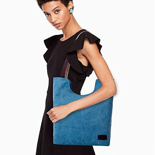 Tote Shoulder Bag Fanspack Handle Shopping Work Bag Casual Top Women's Hobo Peacock Blue Vintage Bag Bag z11wx4t