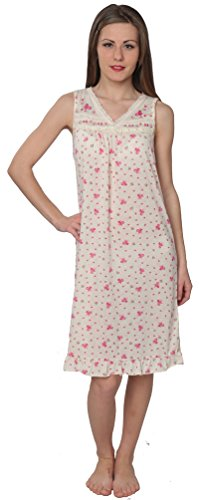 Beverly Rock Women's Floral Print V-Neck Sleeveless Nightgown A072 Yellow 1X