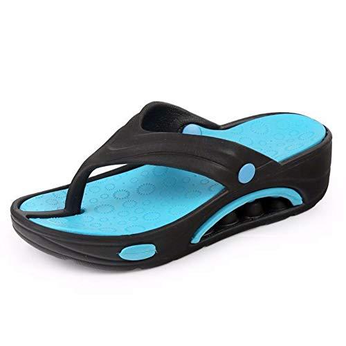 Womens Flip-Flops Thongs Sandals Casual Beach Clogs Design Home Massage Bath Flats Soft Foam Sole Summer Beach River Beach Girls Shoes Black