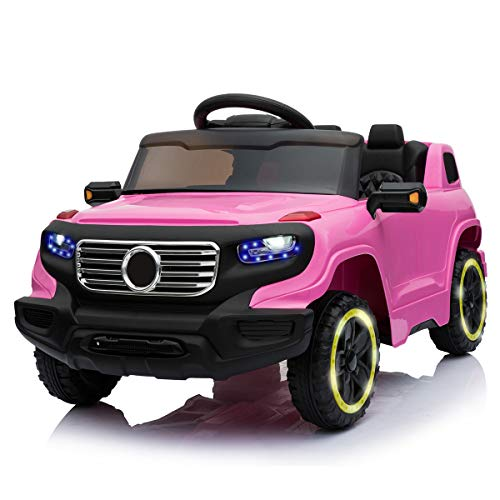 TAMCO Toys Ride on Car Jeep Style with Flicker Wheels, Key Start Electric Power Wheel, RC Parental Control 3 Speeds, Music Playing,Max Load 45LB
