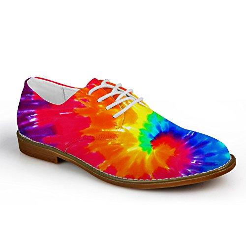 Kramar Idé Färg Mens Mode Plain Toe Oxford Klänning Sko Färgstarka 4