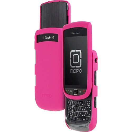 Pink Incipio Feather Light Snap On Hard Plastic Phone Case Cover Protector with Screen Protector for BlackBerry (Protector Cover Blackberry Torch)