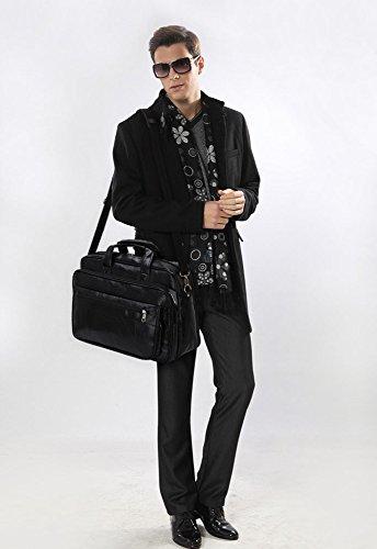 ANNA GRACE - Bolso de tela de piel sintética para mujer Design 1 - Black
