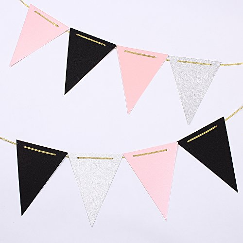 pink and black streamers - 1
