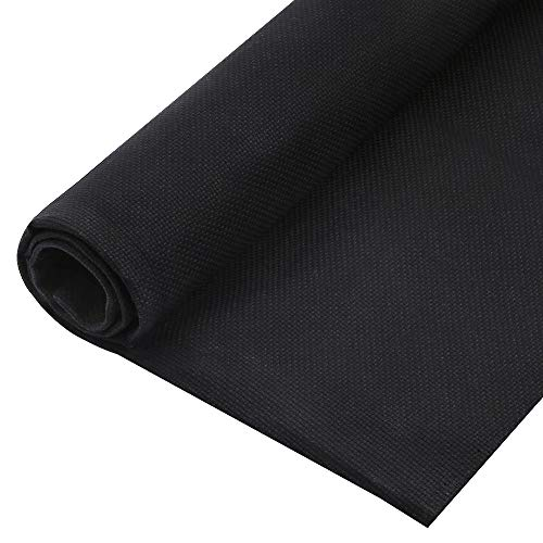 Pllieay 1 Pack 14 Count Black Classic Reserve Aida Cloth Cross Stitch Cloth Fabric with Big Size 59 by 39 Inch ()