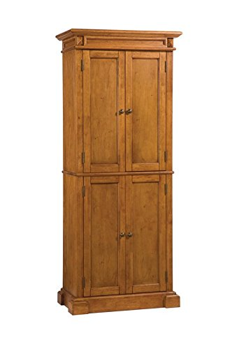 Classic Kitchen Pantry, 6 Shelves, Top 4 Shelves are Adjustable, Classy Raised Wood Panel Doors, Diamond Shaped Carvings, Functional Addition to Any Modern Kitchen by Jaxterrific