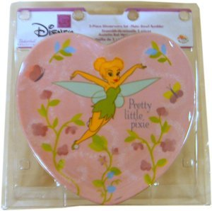 Disney Princess Tinker Bell Dinner set : 3 Pcs Heart Shape Dinnerware by Zak - Heart Bell Dinner