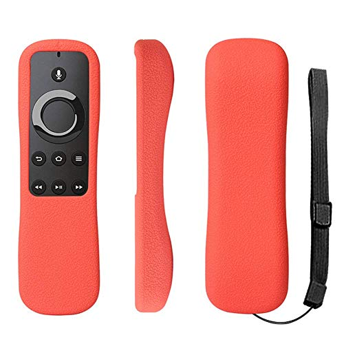 Fire TV Remote Case SIKAI Shockproof Anti-Lost Protective Silicone Cover for 5.9 Amazon Fire TV/Fire TV Stick/Fire TV Cube Alexa Voice Remote Skin-Friendly with Remote Loop (Red)