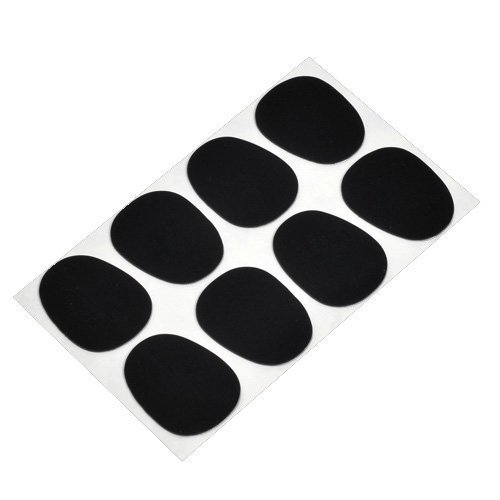 Shenzhen Ymc 12567 Alto/tenor Sax Clarinet Mouthpiece Patches Pads Cushions, Black, 8 Pack
