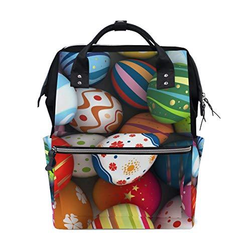 - Diaper Bag Backpack Egg-Shell Painting Floral Baby Nappy Bag Multifunction Travel Back Pack for Mom Girl