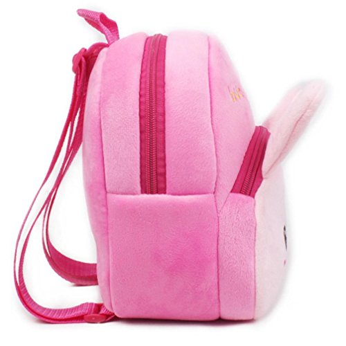 d Children FeilidanJJ Book Red School Baby Rabbit Backpack Kids Durable Cute F Bag Cartoon Pink Monkey Animals for Boys Baby Girls Toddler Soft BqE5pwPw