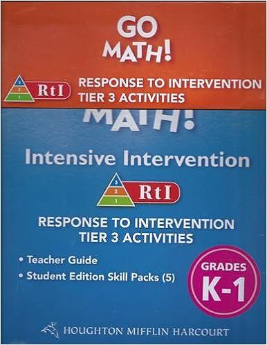 Go Math!: RTI Intensive Intervention Kit Grade K-1: HOUGHTON MIFFLIN ...