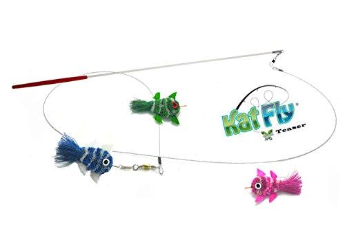Kat Fly Teaser Wand Kit - 3 Mini Clownfish (Kit3) ()