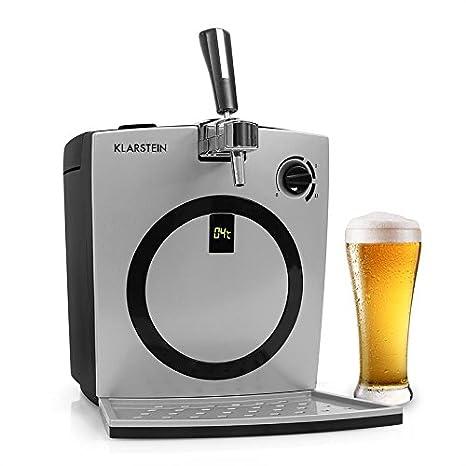 Klarstein Hopfenthal • dispensador de cerveza • enfriador de cerveza • para barriles de 5 l • refrigeración silenciosa • sistema de bombeo sin cartuchos de ...