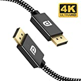 Onvian DisplayPort to DisplayPort Cable 6.6ft Gold-Plated 4K DP Cable Nylon Braided High Speed DisplayPort Cable for PC, Laptop, TV - Slim Aluminum Shell