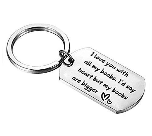 Sephilitone Humor Keychain Stainless Steel I Hope Your Day is as Nice as My Butt Love Letter Keychain Gift for Lover -