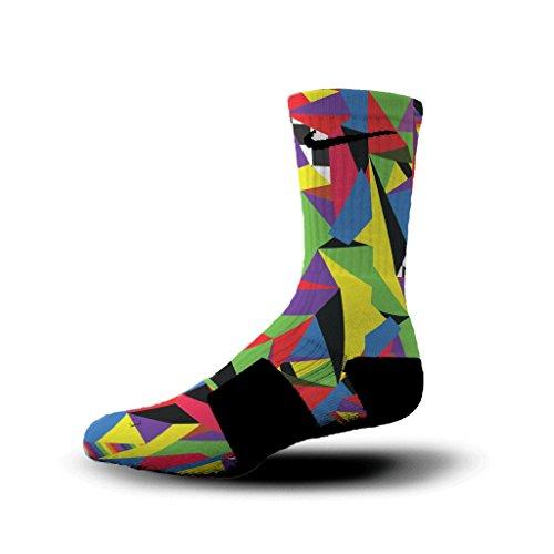 HoopSwagg What The Custom Elite Socks Small Multi