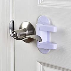 Feel Safe and Baby Proof!                       Our Door Lever Lock is designed to prevent curious children from entering off-limit rooms in your home. The lever lock has also been a great solution for kids opening...