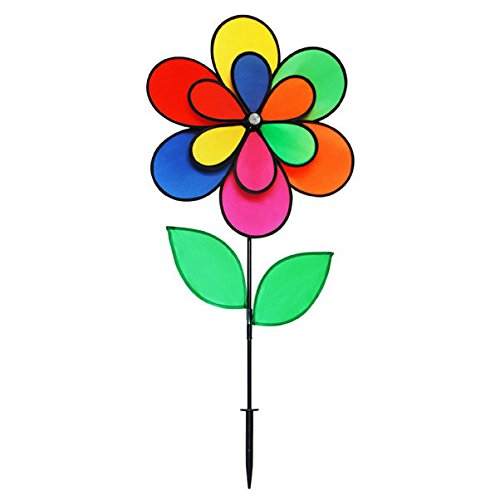 Gardener's Select 12 Petal Pin Wheel with Leaves, 18 by 28''