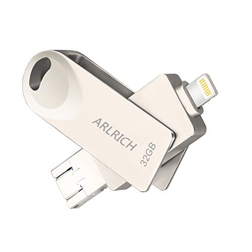 Arlrich Lightning Flash Drive for iPhone 32GB, Memory Stick External Storage Expansion for iPhone iPad iPod Mac Android phone PC and Laptop by Arlrich