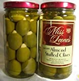 Almond Stuffed Gourmet Queen Spanish Olives 12 oz. Jar