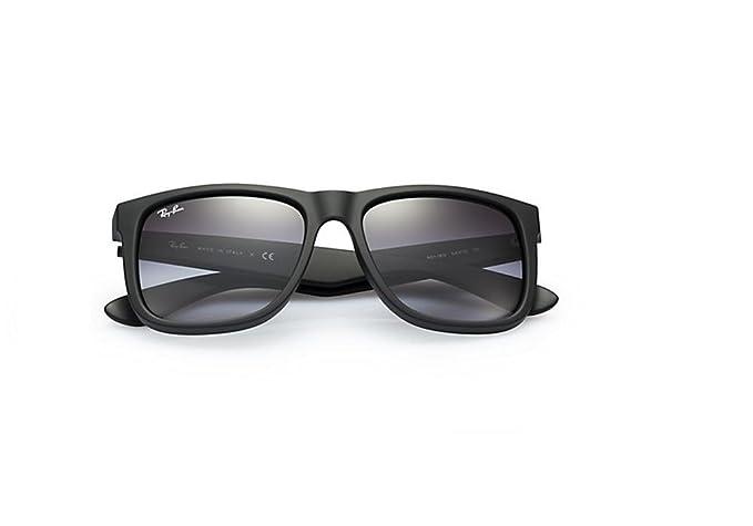 867c14ec0e6484 Ray-Ban Justin classic - noirs avec verres gris - RB4165 601 8G 54 - 16   Amazon.fr  Sports et Loisirs