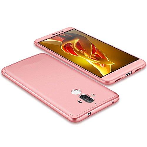 "Huawei Mate 9 5.9"" Funda Pacyer® 3 en 1 PC Protectora Case premium Bumper Delgado Cubierta Slim Armor pantalla Slim Rose"