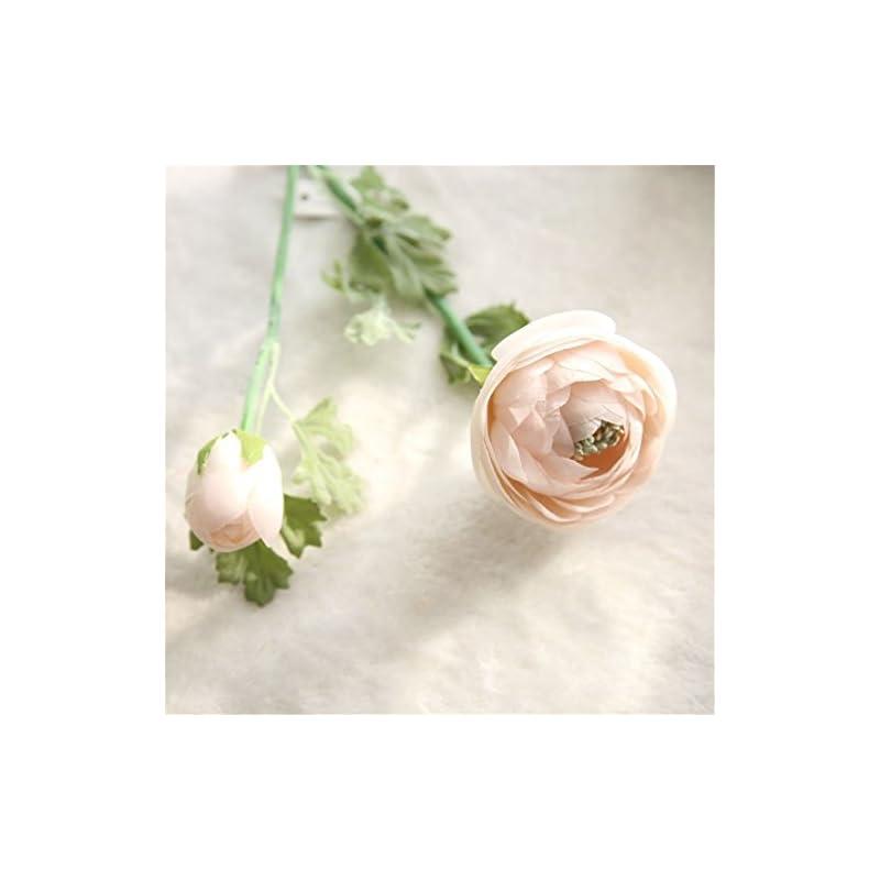 silk flower arrangements mynse 5 pieces 22.8 inch single silk peony artificial ranunculus posy lu lotus flower pink