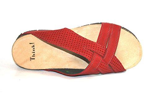 Think! - Sandalias de vestir de Piel para mujer - Rot (kirsch/kombi 74)