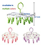 Clothespin Rack Laundry Drying Rack,Clothes Hangers with 16 Clips,Clip Hanger Drip Hanger for Drying Underwear,Baby Clothes,Socks,Bras,Towel,Pants,Hat,Scarf,Cloth Diapers,Gloves