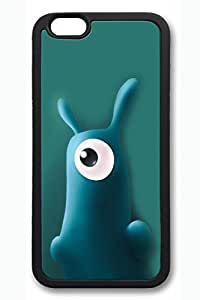 iPhone 6 Case, 6 Case - Highly Protective Rubber Case Bumper for iPhone 6 Cute Moster Scratch-Resistant Black Soft Back Case Cover for iPhone 6 4.7 Inches