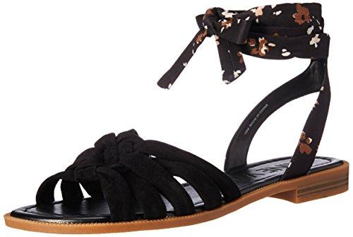 (Nine West Women's XAMEERA Flat Sandal, Black/Multi, 10 M US)