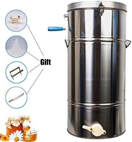 蜂蜜抽出器手動ステンレス鋼固体ダスト養蜂装置