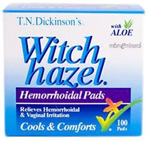 T N Dickinsons, Hemmorhoid Pads Witch Hazel, 100 Count