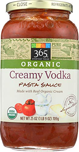 365 Everyday Value, Organic Creamy Vodka Pasta Sauce, 25 oz