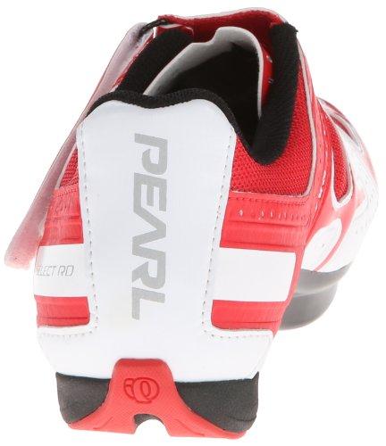 Pearl Izumi Select Road Rd Iii, Zapatillas de Carretera para Hombre blanco / rojo