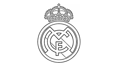 Maple Enterprise Real Madrid Club Logo Vinyl Decal Sticker for car Laptop ()
