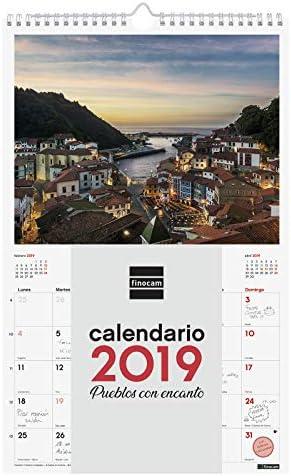 Finocam 780553319 - Calendario de pared 2019: Amazon.es: Oficina y ...