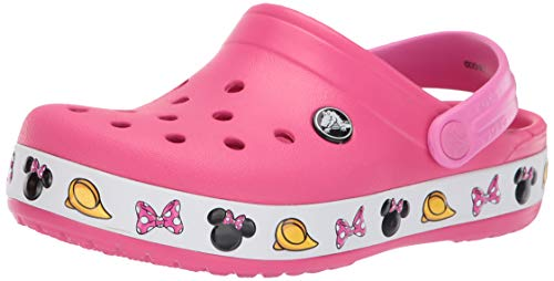 Crocs Girls' Disney Mickey Mouse Clog, Paradise Pink, 1 M US Little Kid