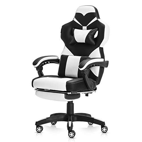 Racing Style PU Leather Gaming Chair – Ergonomic Swivel Computer, Office or Gaming Chair Desk Chair HOT (WH0)