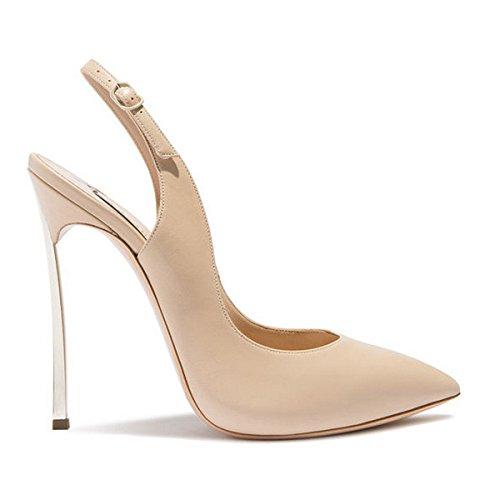 Chaussures Gaolim Dété Avec Pic Fin Blanc Argenté, Le Vide Sandales Fille Baotou Nue) Pantoufles 1 Couleur Crue