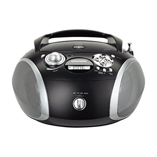 chollos oferta descuentos barato Grundig GRB 2000 USB Digital 3W Negro Plata Radio CD Digital FM Jugador CD DA CD R CD RW 3 W MP3 WMA