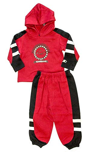 Arkansas Razorbacks Licensed TODDLER Fleece Sweatsuit Pullover Hoodie And Pants Outfit (12 Months) ()