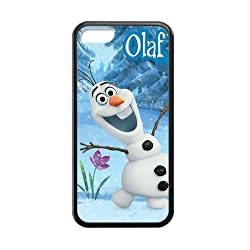 Custom Frozen Disney 3D Movie Olaf Cute Snowman Hard Case for iPhone 5C TPU (Laser Technology)