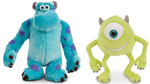 Monsters, Inc. - Mike & Sully Deluxe Official Plush Set (Sully Monsters)