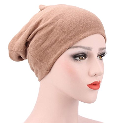 Egmy 2017 Kvinnor Muslim Stretch Turban Hat Chemo Lock Håravfall Huvud Hijib Cap H
