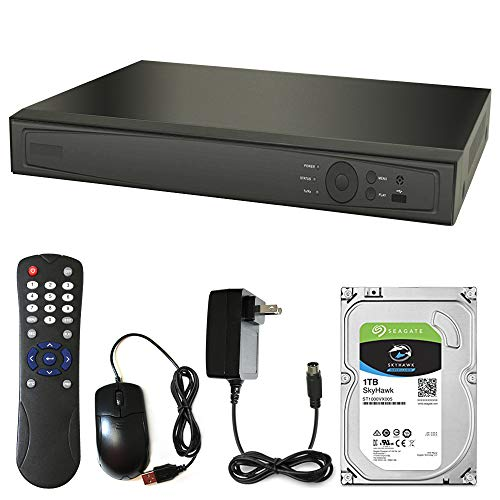 Gawker 8 Channel DVR with 1Tb Seagate Hard Drive Kit. 1080 P HD-TVI, 4K AHD, CVI, IP Network HDMI, VGA, CVBS Output, Motion Detection & Email Alerts Home Video Surveillance System Recorder