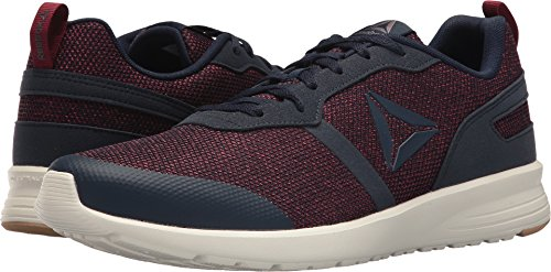 Reebok Men's Foster Flyer Sneaker, Coll. Navy/Urban Maroon/Ash Grey/Chalk/Field Tan, 10.5 M US